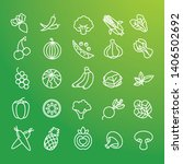 fruit and vegetable icon... | Shutterstock .eps vector #1406502692