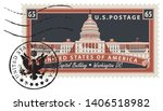 postage stamp with inscriptions ... | Shutterstock .eps vector #1406518982