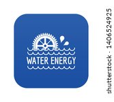 water energy icon blue vector... | Shutterstock .eps vector #1406524925