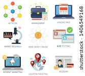 business vector icons...   Shutterstock .eps vector #1406549168
