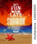 Summer Retro Poster. Seascape...