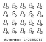 person and user thin line icon... | Shutterstock .eps vector #1406553758