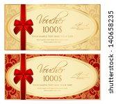 voucher   gift certificate  ... | Shutterstock .eps vector #140658235