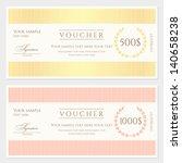 voucher   gift certificate... | Shutterstock .eps vector #140658238
