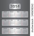 calendar for 2014 year in... | Shutterstock .eps vector #140658262