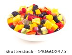 A Bowl Of Rainbow Colored Fruit ...