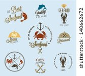 restaurant seafood | Shutterstock .eps vector #140662672