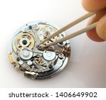 close up of watchmaker... | Shutterstock . vector #1406649902