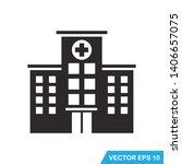 hospital building icon vector... | Shutterstock .eps vector #1406657075