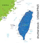 taiwan map | Shutterstock .eps vector #140669965