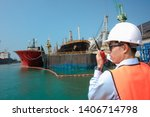 port state control on duty of... | Shutterstock . vector #1406714798