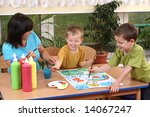 teacher two preschoolers and... | Shutterstock . vector #14067247