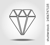diamond icon vector. simple...