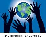vector illustration of black... | Shutterstock .eps vector #140675662