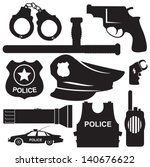 armor,background,badge,car,crime,criminal,design,electric,equipment,gun,handcuffs,handgun,hat,icons,illustrations