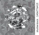 unmatched on grey camo texture | Shutterstock .eps vector #1406776415