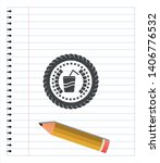 soda icon pencil effect. vector ... | Shutterstock .eps vector #1406776532