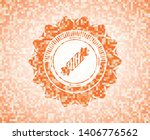 candy icon inside orange tile... | Shutterstock .eps vector #1406776562