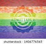 admittance emblem on mosaic... | Shutterstock .eps vector #1406776565