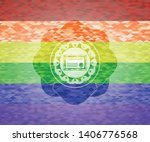 certificate icon on mosaic... | Shutterstock .eps vector #1406776568