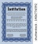 blue vintage invitation... | Shutterstock .eps vector #1406776592