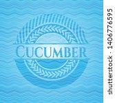 cucumber water badge background.... | Shutterstock .eps vector #1406776595