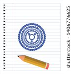 transgender icon drawn with pen ... | Shutterstock .eps vector #1406776625