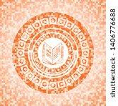 book icon inside orange mosaic... | Shutterstock .eps vector #1406776688
