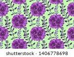 art floral vector seamless... | Shutterstock .eps vector #1406778698