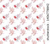 seamless pattern of rose hip... | Shutterstock .eps vector #1406778842