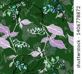 hand drawn vector seamless... | Shutterstock .eps vector #1406778872