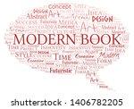 modern book word cloud.... | Shutterstock .eps vector #1406782205
