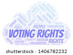 voting rights word cloud.... | Shutterstock .eps vector #1406782232