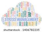 stress management word cloud.... | Shutterstock .eps vector #1406782235