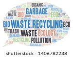 waste recycling word cloud.... | Shutterstock .eps vector #1406782238