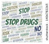 stop drugs word cloud.... | Shutterstock .eps vector #1406782265