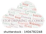 stop drinking alcohol word... | Shutterstock .eps vector #1406782268