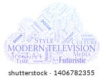 modern television word cloud.... | Shutterstock .eps vector #1406782355