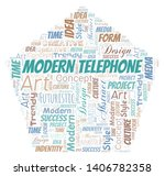 modern telephone word cloud.... | Shutterstock .eps vector #1406782358