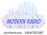 modern radio word cloud.... | Shutterstock .eps vector #1406782385