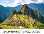 Stock photo the famous machu picchu is a th century is located in the cusco region of peru the beauty of 1406789108