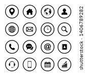 web icon set symbol. website... | Shutterstock .eps vector #1406789282