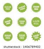 sugar free icon set  natural... | Shutterstock .eps vector #1406789402