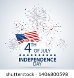 fourth of july independence day ... | Shutterstock .eps vector #1406800598