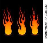 fire ball | Shutterstock .eps vector #140681332