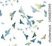 flying dove color raster... | Shutterstock . vector #1406825345