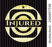 injured gold badge. vector...   Shutterstock .eps vector #1406857538