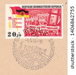 germany circa 1965 a stamp... | Shutterstock . vector #1406862755