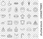 confectionery icons set.... | Shutterstock .eps vector #1406879885