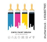 vector design colorful paint... | Shutterstock .eps vector #1406887985
